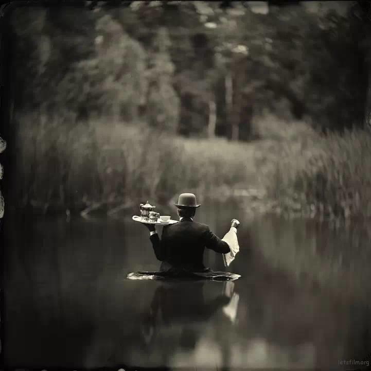 湿版摄影的艺术人像作品
