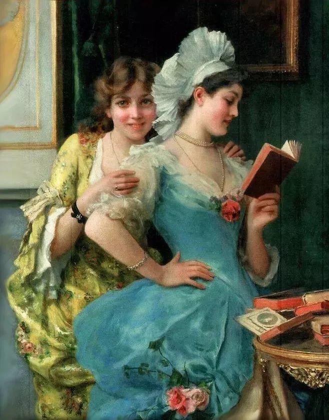 读书的女子原来这么美