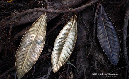 纯手工打造铜树叶香插